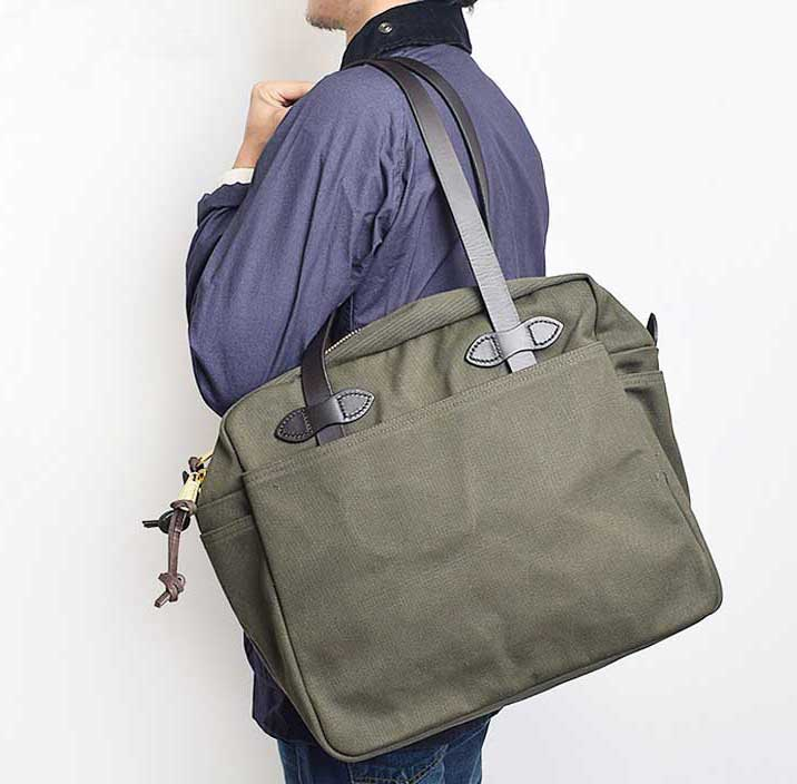 Filson Zippered Tote Review - Otter Green