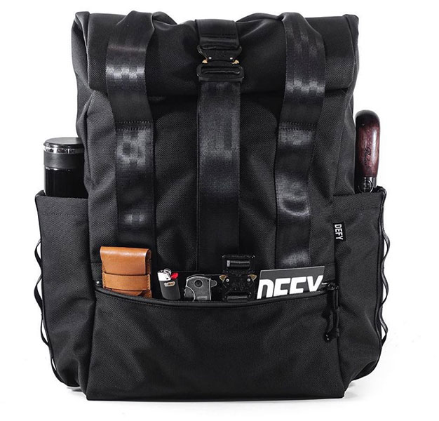 Defy Verbockel Rolltop Backpack with external pocket