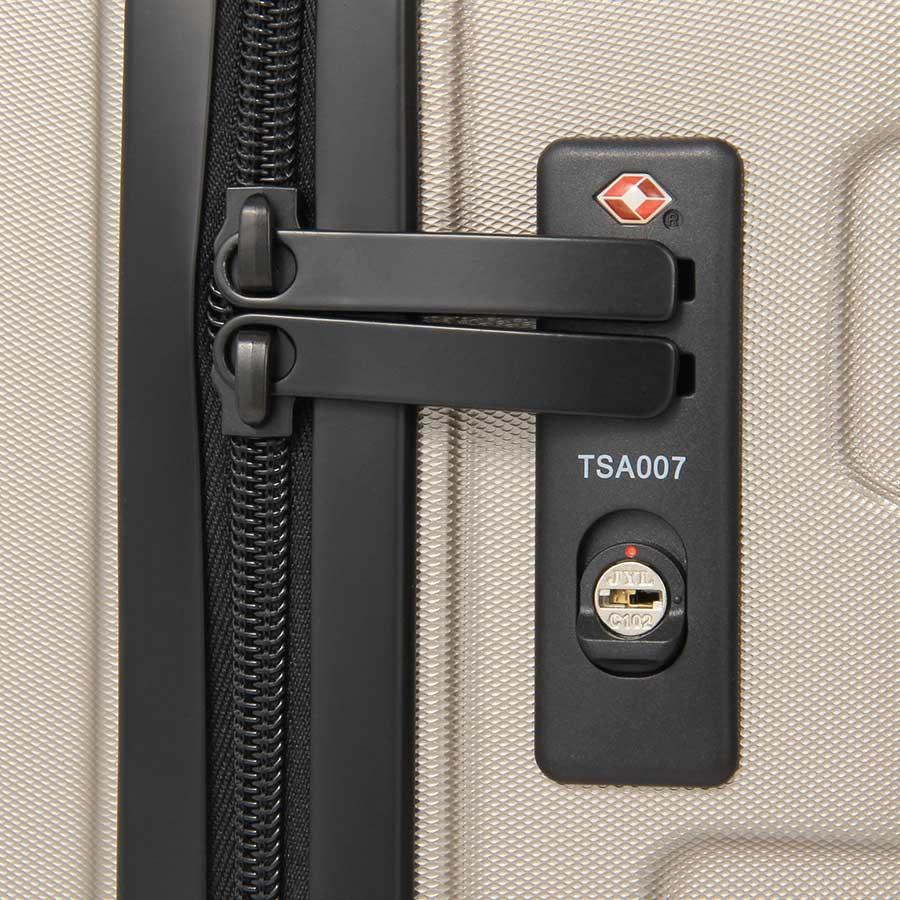 Muji suitcase TSA zipper lock