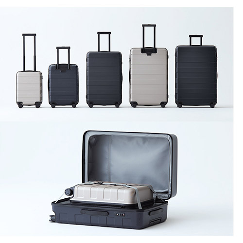 Muji trolley rolling luggage available sizes