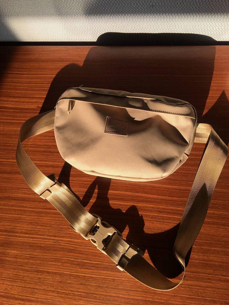 Herschel Nineteen Sling Bag in Cordura Kelp